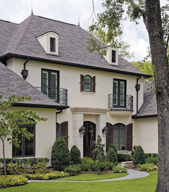 French Country Stucco Houston To Build A House Pinterest