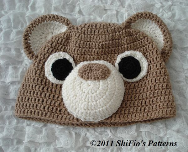 Free Crochet Animal Hat Patterns For Adults : CROCHET PATTERN for ADULT ANIMAL BEAR OWL HAT BEANIE #169 ...