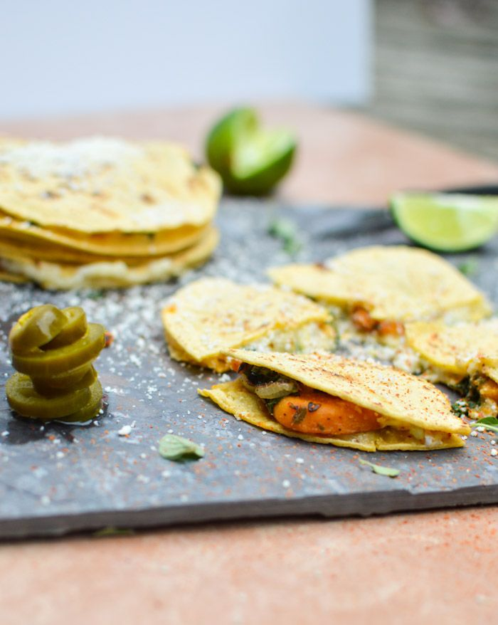 Sweet Potato Spinach #Quesadillas (a personal favorite from Curried ...