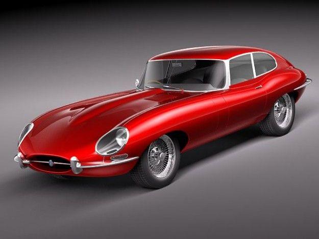 Jaguar E-type 1962 coupe | 3D Cars | Pinterest
