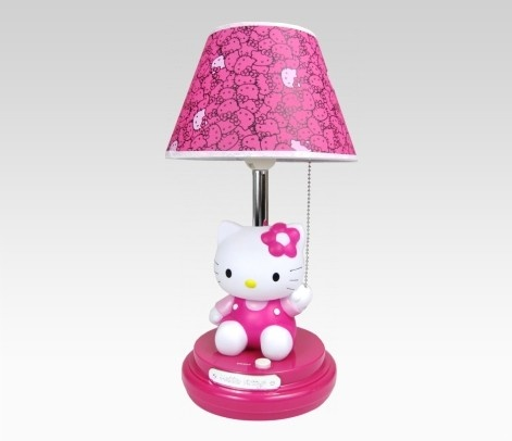 hello kitty sitting table lamp. Black Bedroom Furniture Sets. Home Design Ideas