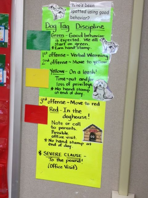 Classroom Punishment Ideas : Updated dogtag discipline classroom ideas activities