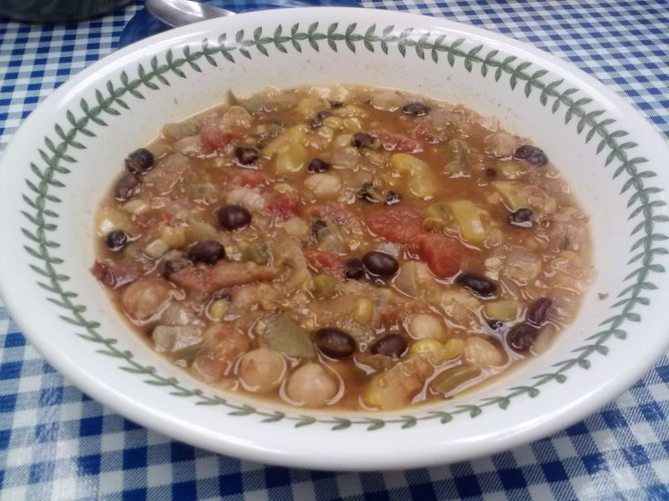 Vegetarian Two Bean Chili | Soups! | Pinterest