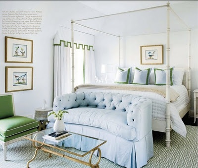 light blue and kelly green bedroom guest room cottage pinterest