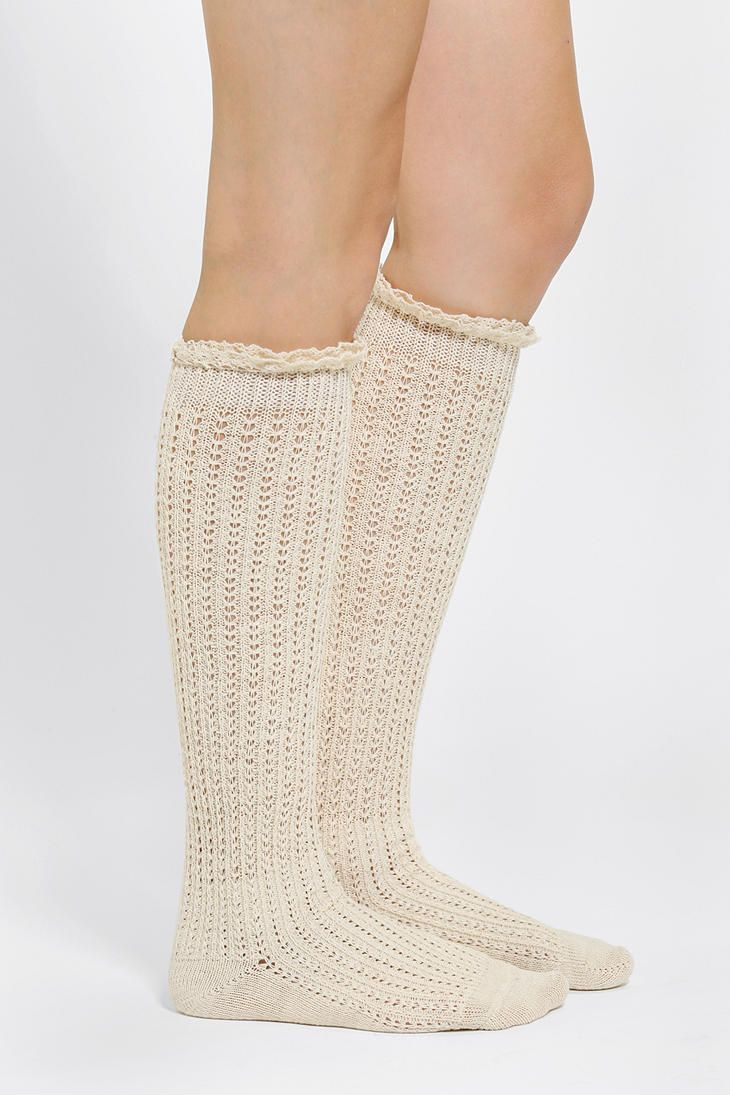 Crochet Lace-Cuff Knee-High Sock boot socks i love the ones with ...