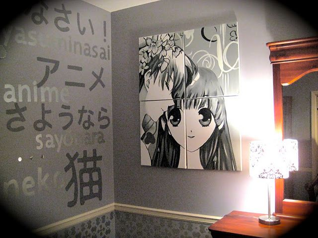 More of anime room kid 39 s space pinterest for Anime bedroom ideas