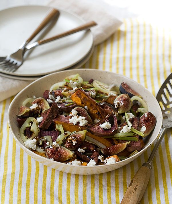 Roasted Sweet Potato and Fresh Fig Salad | Eat Your Greens, Reds, Yel ...