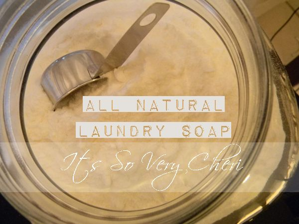 Cheri's ALL NATURAL Laundry Soap recipe. For a fraction of the price you can make your own. This recipe takes about 10 minutes to make start to finish.