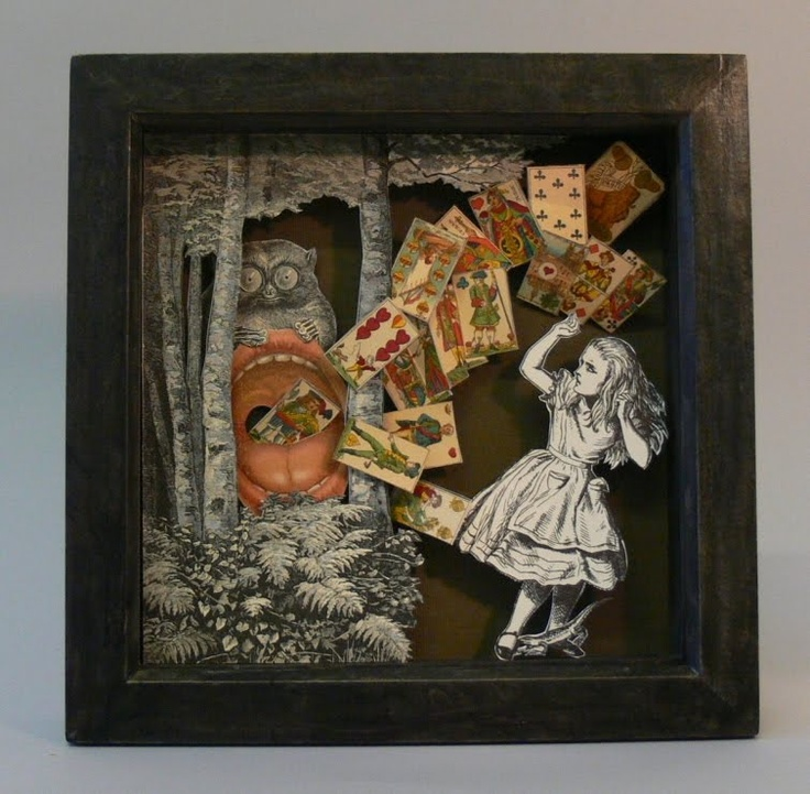 Altered Books Art Painting