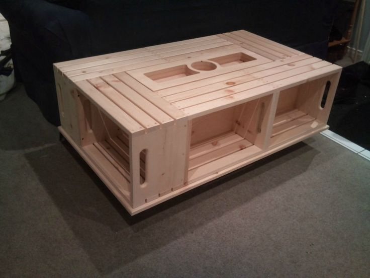 Wine crate coffee table do it yourself ideas pinterest What to do with wine crates