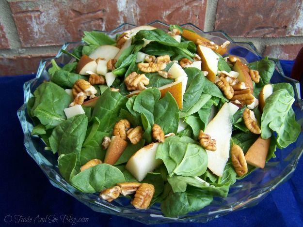 Pear Spinach Salad | Recipes: Salads/Dressings/Veg | Pinterest