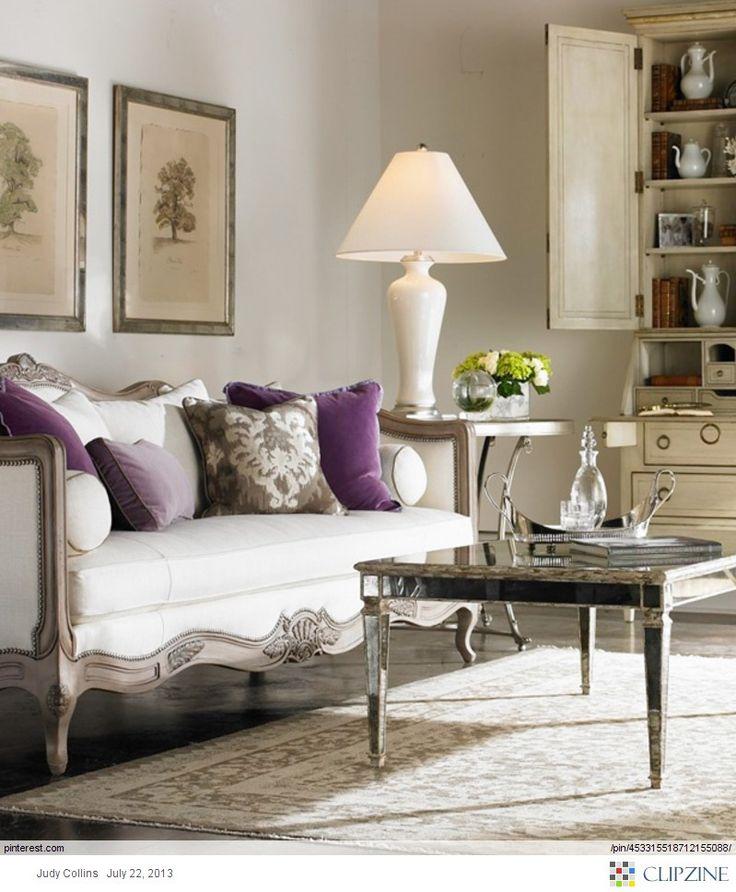 Gray Eggplant Living Room Pinterest