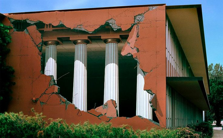 "trompe l'oeil (""trick of the eye"") muralist and artist John Pugh:"