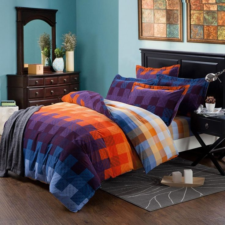 Pin by alexandra bryant on it doesn 39 t hurt to dream - Orange and purple bedding ...