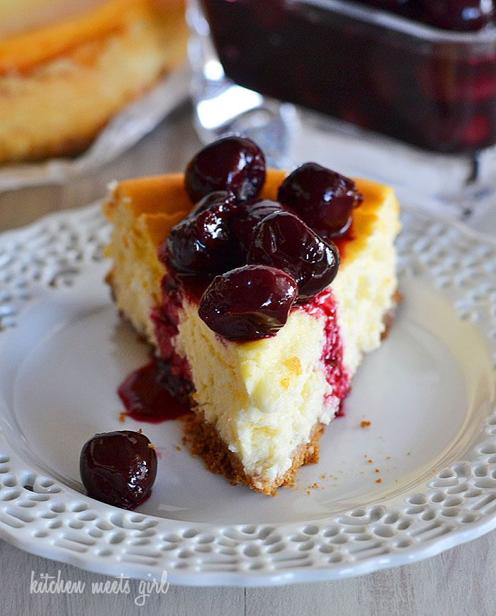 Perfectly light and creamy cherry cheesecake - you'll never guess the ...
