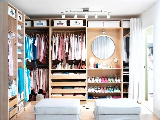 Ikea pax walk in closet a place for everything pinterest for Walk in wardrobe closet