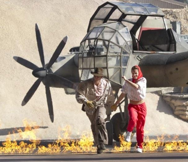 Flames at indiana jones epic stunt spectacular photo via wdwnews com