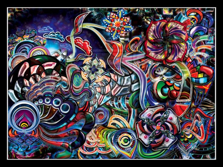 trippy psychedelic art Psychedelic Visions Pinterest