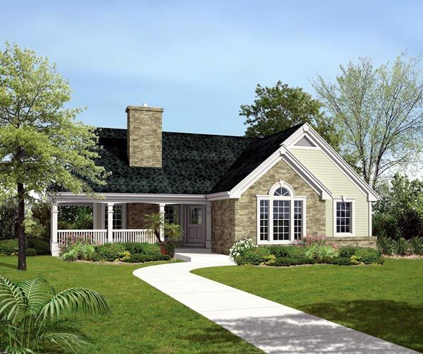 Country ranch traditional house plan 95807