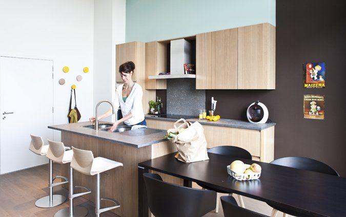 Keuken Blauw Verven : keuken verven – blauw + geel + magneetmuur
