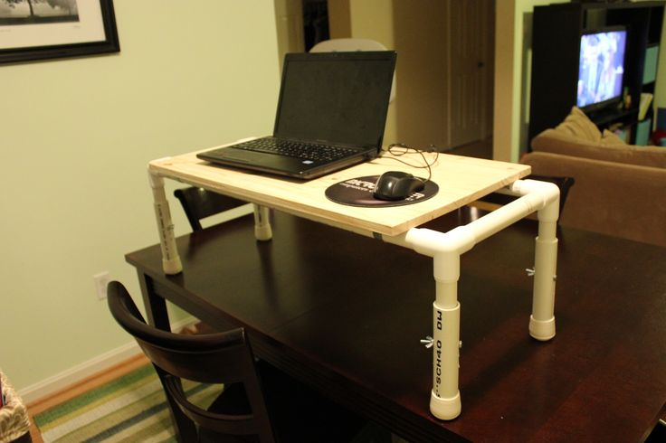 Create a stand up desk for cheap! | organization | Pinterest