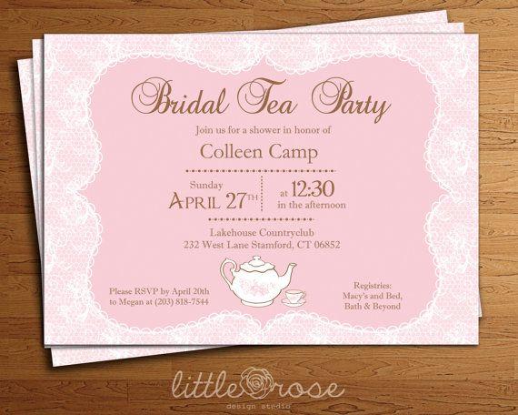 Lace Bridal Tea Party Bridal Shower Invitation DIY-Printable Digital ...