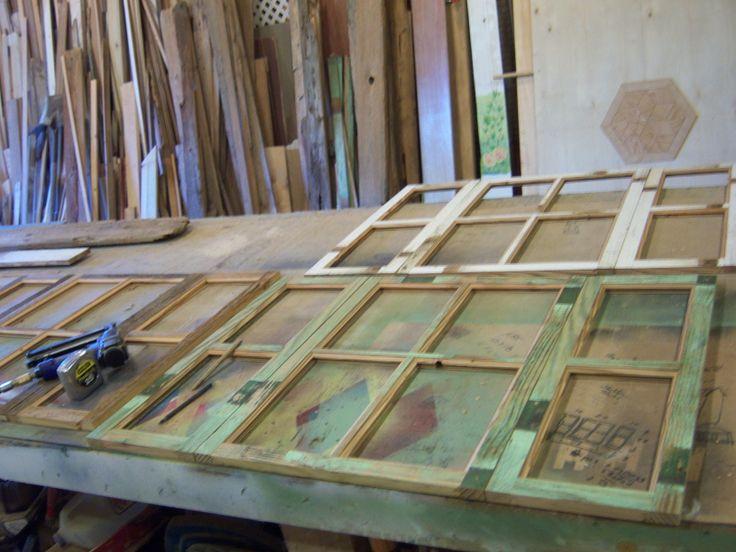 ... wood window shutter shelf | Rustic Reclaimed cypress wood c