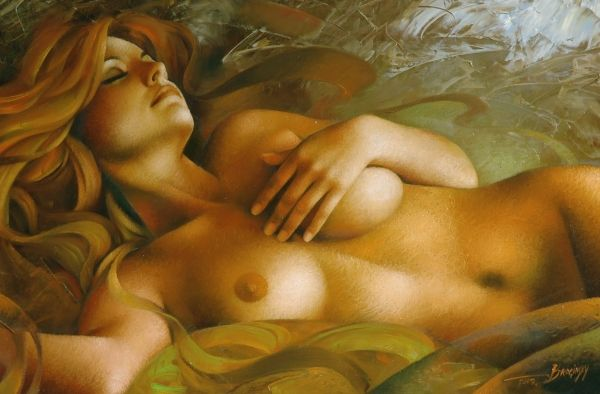Nude Art Woman Painting