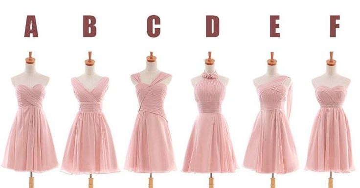 Same Color Different Style Bridesmaid Dresses 74