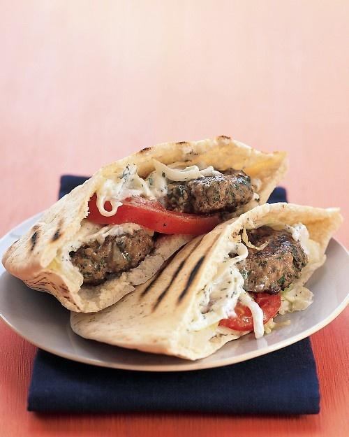 Made these Greek lamb burgers tonight, yum! Like homemade gyros.