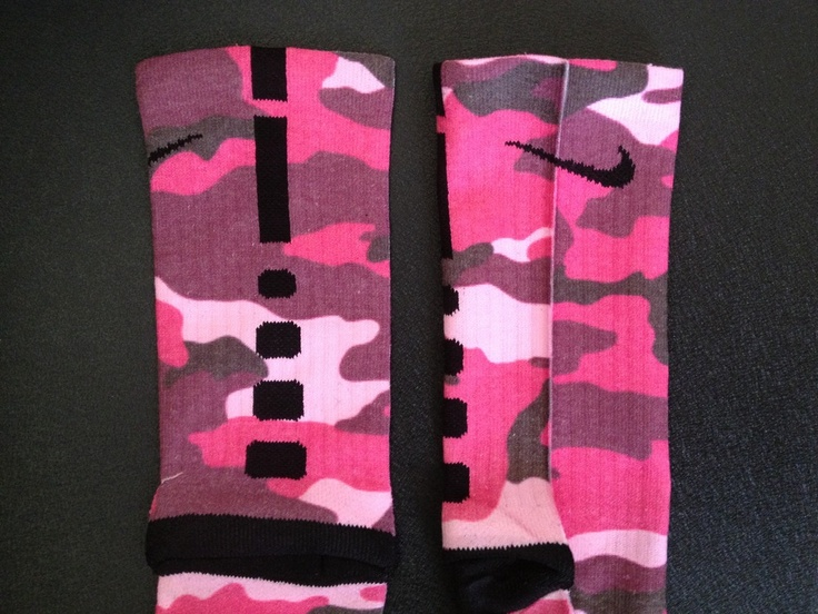 Nike Elite Socks Camo Pink Aloha customs  pink camo eliteNike Elite Socks Camo Pink