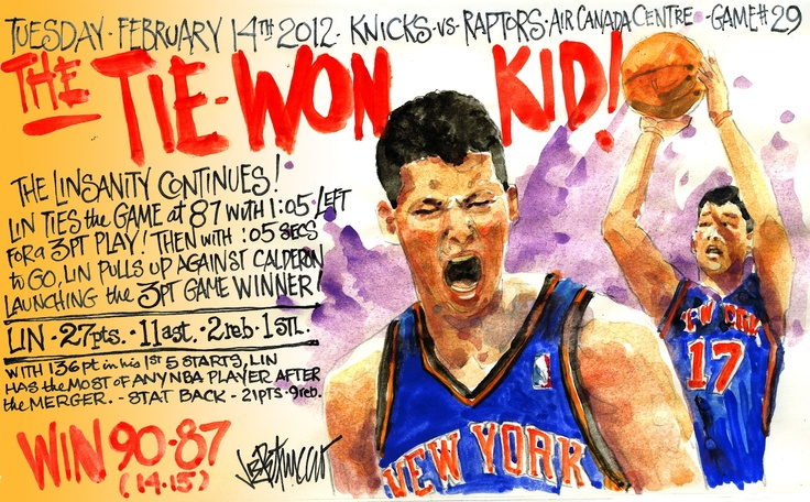 Game 6.  I was speechless.  The Knicks had no business winning this game.  Losing most of the game, Calderón played well but could not hold J-Lin down as he scored the last SIX points of the game to win, the last 3, a clearout 3-pointer with .5 seconds left.  Toronto fans went Linsane.  Amazing.