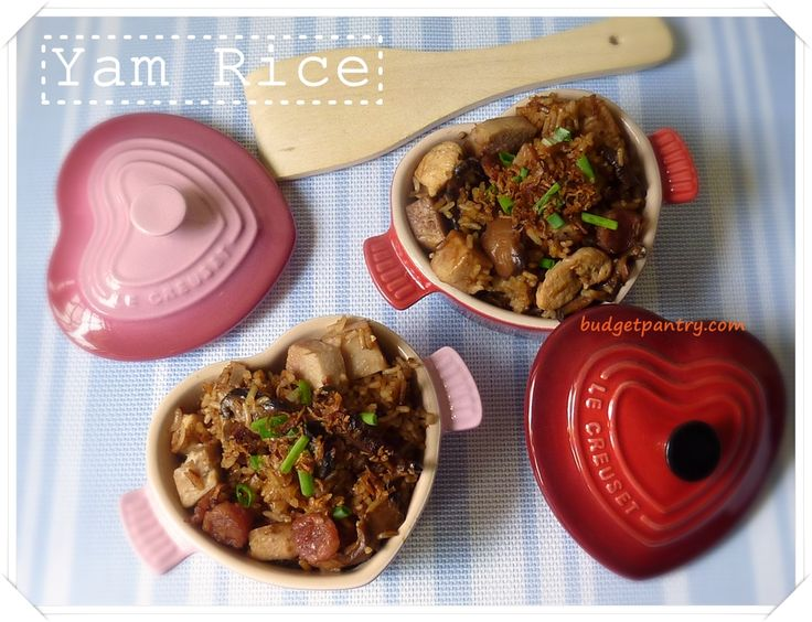 Rice-cooker Yam Rice 芋头饭 | Home recipes from budgetpantry.com ...