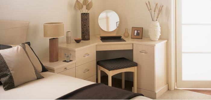 Charming Corner Dressing Table