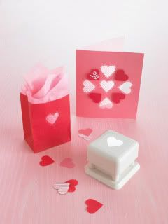 Martha heart punches for #DIY Vday cards.