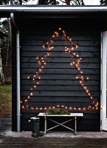 Outdoor Christmas lights idea