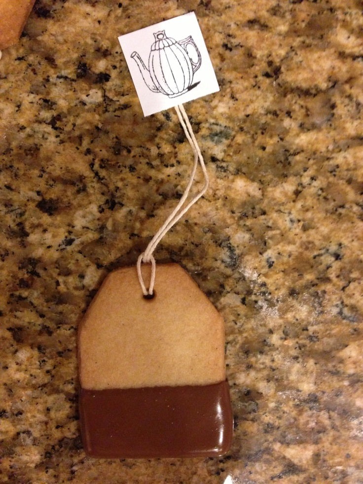 Tea bag cookies for Mother's Day. Made using Martha Stewart's ...