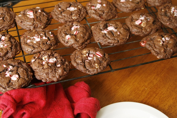 chocolate peppermint bark cookies i doubled the recipe and made them ...