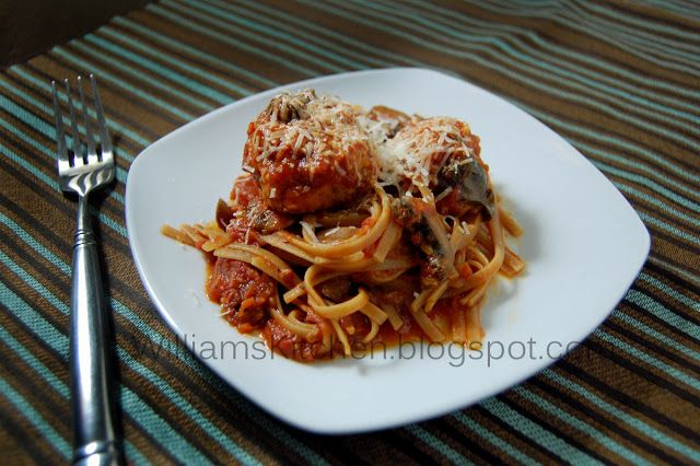 "Cannellini Bean ""Meatballs"" with Tomato Sauce."