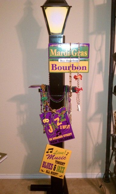 Mardi gras birthday party ideas for Lamp decoration ideas