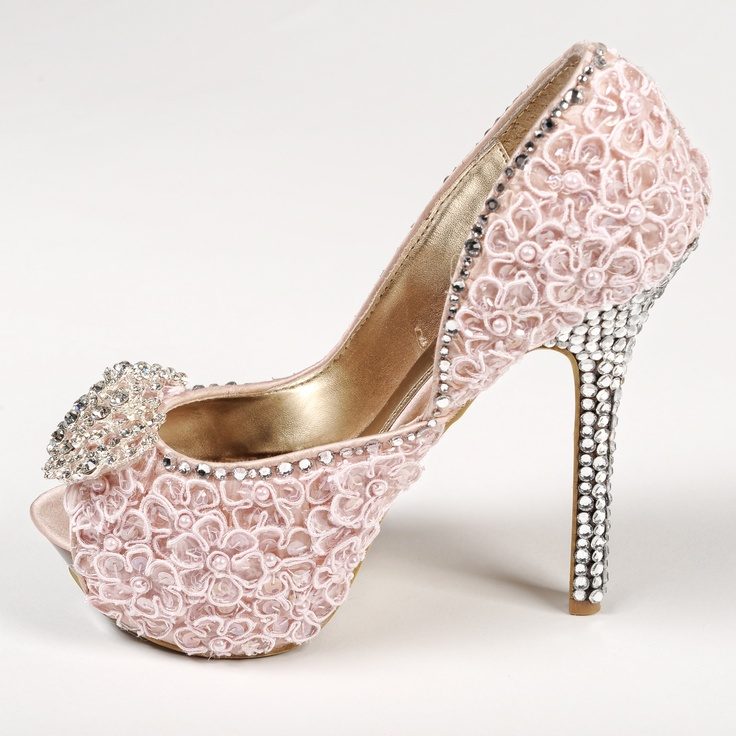 Pink And Silver Heels