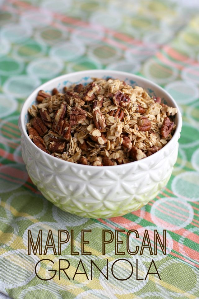 Simple Maple Pecan Granola. - The Pretty Bee