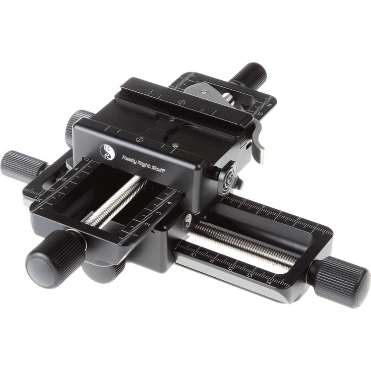 """Something to look into    Really Right Stuff Macro Focusing Rail Package for Geared Motion in """"X """" & """"Y """" axes. Package includes two B150-B macro rails,"""