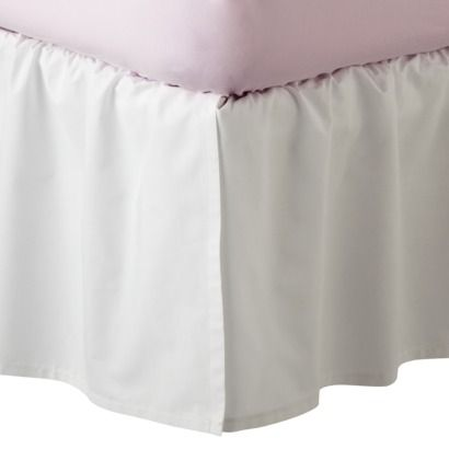 White Full Bed Skirt 58