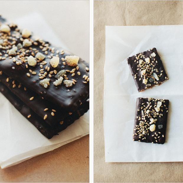 Dark Chocolate + Ginger Flatbreads | Sweet Noms | Pinterest