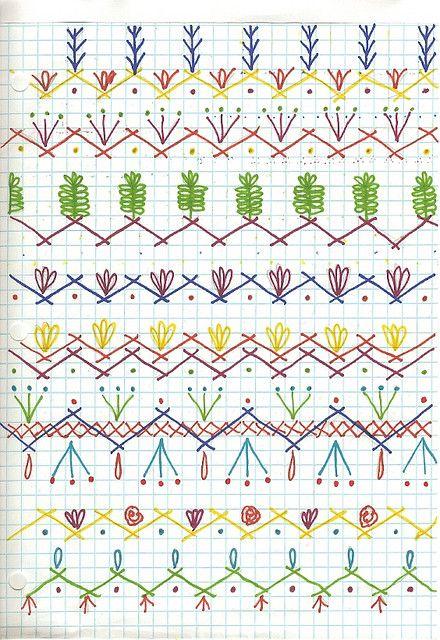 Seam Designs For Crazy Quilt | Crafts | Pinterest