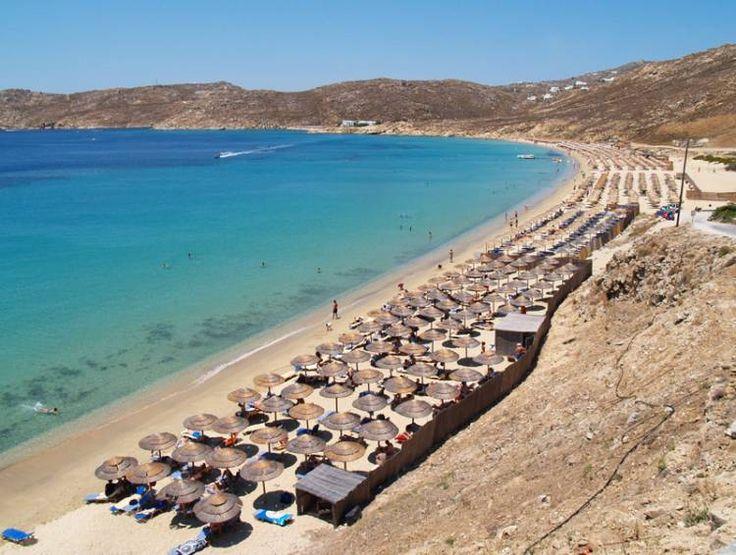 Kalo Livadi beach, Mykonos, Greece  Mykonos  Pinterest