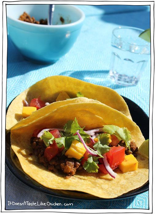 Spicy Lentil Tacos | Yummies | Pinterest
