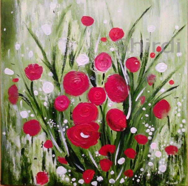 Abstrakte Blumen -Blumenwiese- Leinwanddruck von Art Du Soleil auf ...
