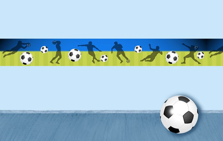 Fussball Bordüre Kinderzimmer | Bibkunstschuur